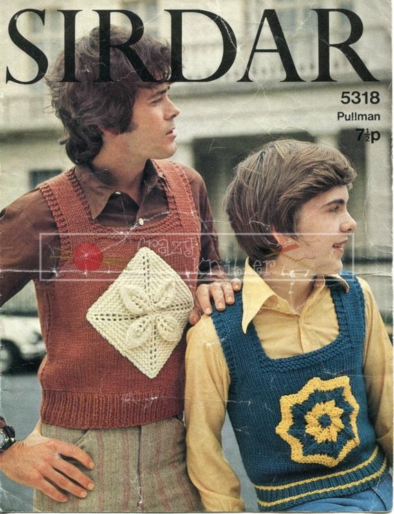 "Teenager Tank Top 30-38"" 4-ply Sirdar 5318 Vintage Knitting Pattern PDF instant download"