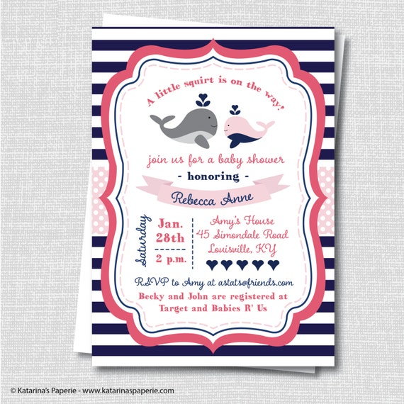 girl whale baby shower invitation whale themed baby shower digital