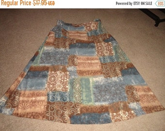 VALENTINES 50% OFF Size 20W plus size vintage Polyester skirt 38 inch waist 38 inch length