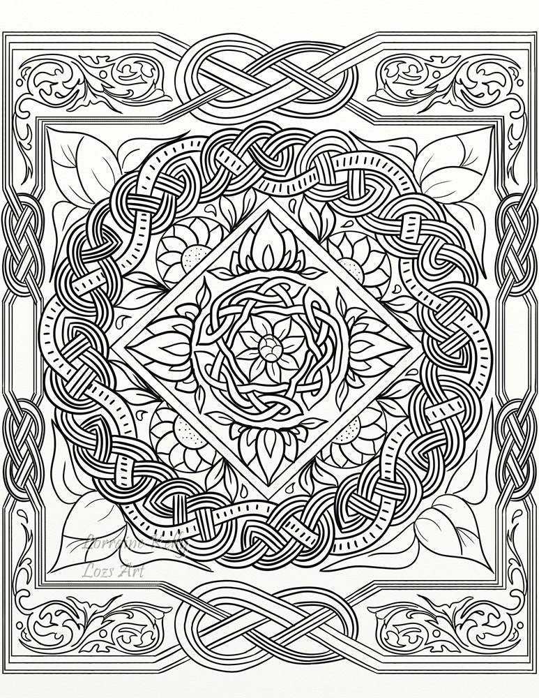 celtic adult coloring pages - photo#31