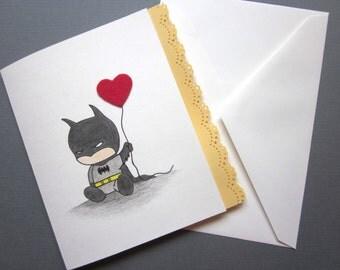 Bat Inspired Love Card