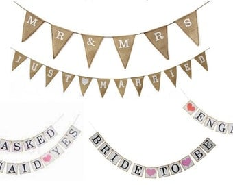 Bunting Garland Banner Party Wedding Marriage Decoration