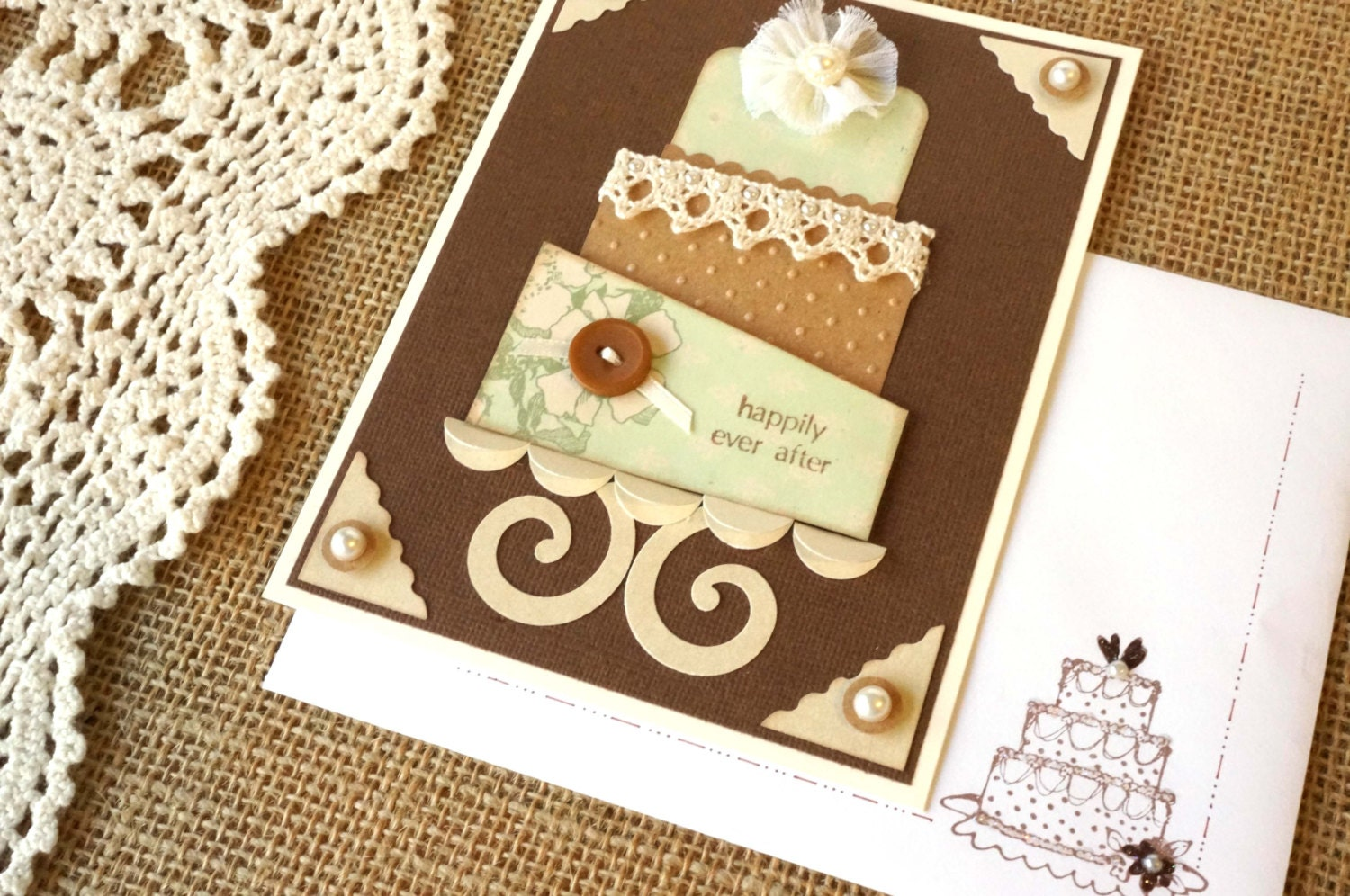 Wedding Shower Gift Card Holders : Cake Wedding Gift Card Holder Bridal Shower by MelodysMoments