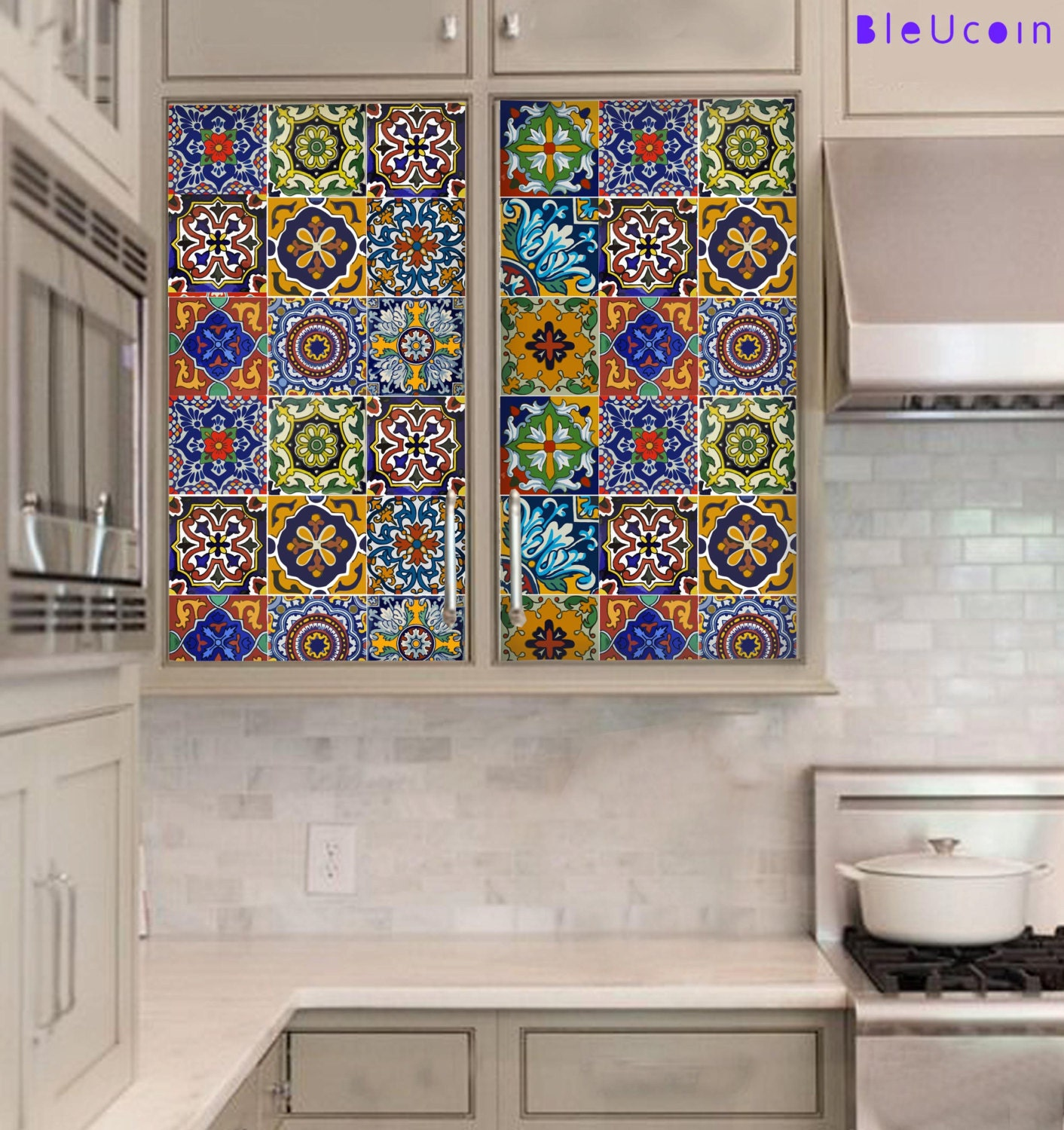 Tile On Kitchen Wall: Kitchen/bathroom Backsplash Tile/Wall/stair Decal : Mexican