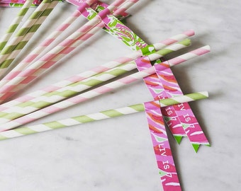 Lilly Pulitzer Straw Flags