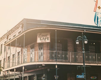 New Orleans photography french quarter photography ernst cafe new orleans decor historic building louisiana decor large wall art nola prints