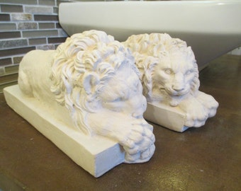 Cathedral Lions Sleeping Statues