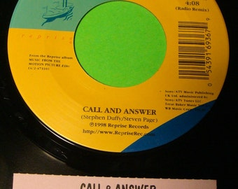 BARENAKED LADIES Call And Answer It's All Been Done Jukebox Promo 45 Record 1998 1st Reprise Label Mint Unplayed w/ Ts Title Strip!