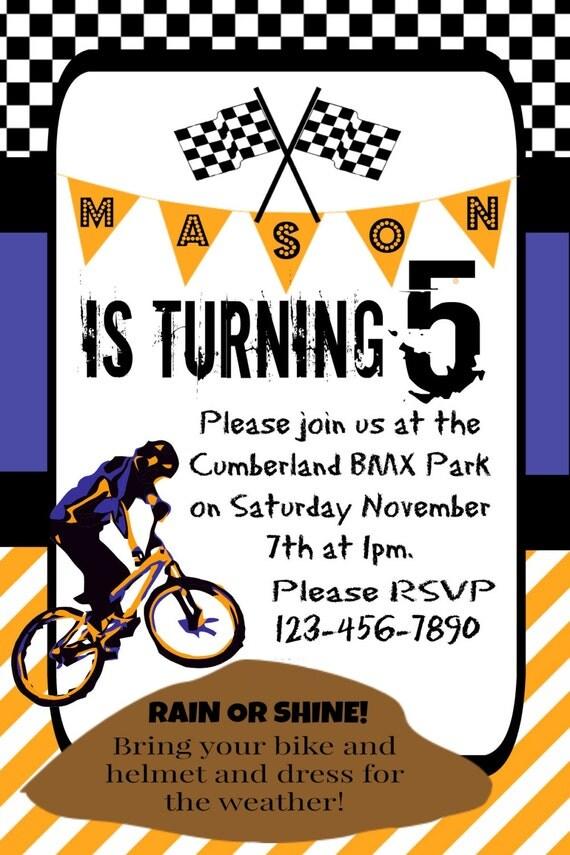 boy u0026 39 s birthday party invitation dirt bike theme by