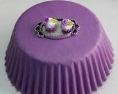 Purple cupcake tray