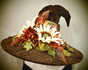"Couture Witch Hat ""Russet Ritual"