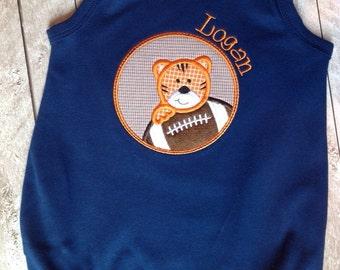 Tiger football navy bubble-Bubble-boy-girl-Toddler Bubble