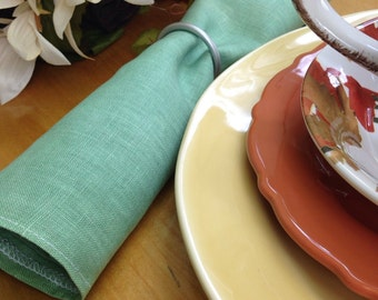 Dinner napkins /set of 8  (13x13) Green