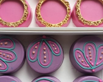 Moroccan oreos, moroccan chocolate covered oreos, moroccan baby shower