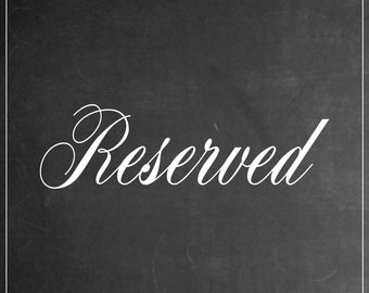 Reserved PRINTABLE Sign