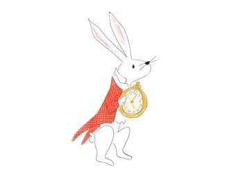 White Rabbit - Alice in Wonderland - Fine Art Print