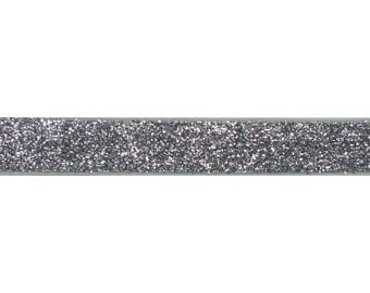 """Silver - 5 Yards 3/8"""" Glitter Elastic - 3/8-G-014"""