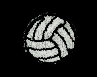 """Volleyball- Set of 3 Chiffon 3"""" Volleyball Appliques - Sports Trim - Y-CAT-043"""
