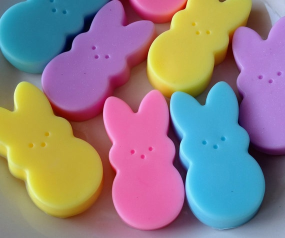 12 easter bunny soap favors easter soaps easter favors like this item negle Images