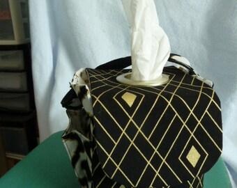 Classy Black & Gold Pursonable Tissue Box Cover