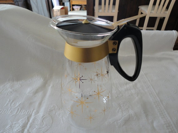 Corning atomic gold starburst pitcher coffee pot by tammysfindings - Heat proof pitcher ...