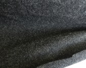 100% Merino Black or Charcoal New Zealand Wool Coat Fabric By the yard- Sewing Apparel