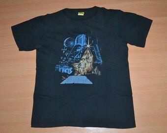 Vintage 90s STAR WARS a galaxy far away movie promo rare size M T-shirt