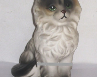 Japan Himilayan Siamese Persian Fluffy Cat Sitting Animal Figurine