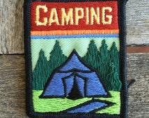 Camping Vintage Souvenir Patch