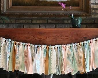Torn Fabric Garland. Birthday, Nursery, Party, Banner