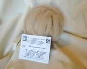 Alpaca Roving - 2 oz. 100% Natural Light Fawn Grade 2 SUPERFINE  For Spinning, Nuno Felting or Needlefelting