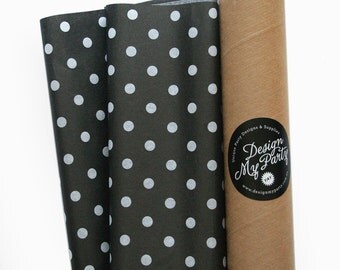 Black & White Polkadots Tissue Paper (40 Sheets) 500mmx760mm