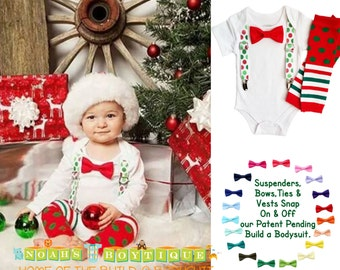 Baby Boy Christmas Outfit Newborn First Christmas