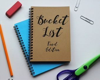 FOOD EDITION - Bucket List -   5 x 7 journal