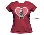 French bulldog women's t-shirt,  puppy t-shirt,  dog t-shirt, women t-shirt, cotton t-shirt, fitted t-shirt, form fitting shirt, bulldog