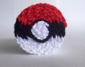 Crochet à la main de foulard, Pokemon, pokeball || Prêt pour l'expédition