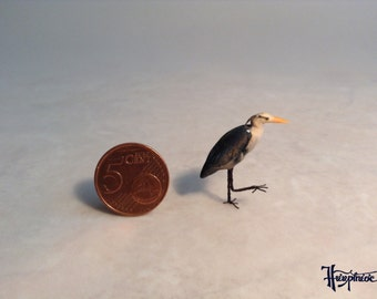 Wooden miniature heron