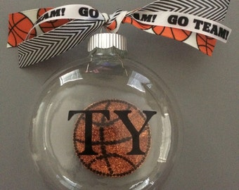 Personalized Basketball Ornament-Sports Ornament-Personalized Gift