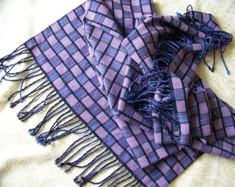 """Handwoven Shawl Scarf Wrap Stole 21""""x 76"""" hand woven Tencel - 5 choices"""