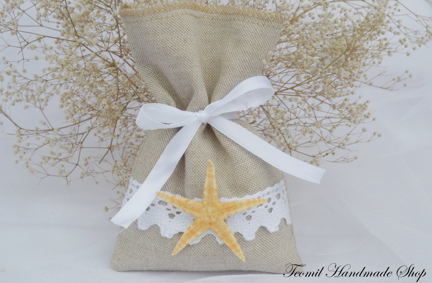 Beach Favor Bag Starfish Wedding Favor Bag Beach Bag