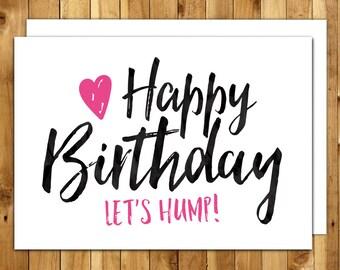 birthday card boyfriend girlfriend naughty birthday, Birthday card