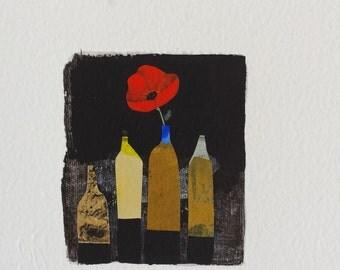 Original illustration - lifes black and poppy-
