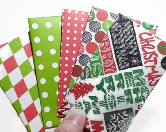 Sale ! 10 Christmas Gift Card Envelopes, Gift Card Holder With Cards, Handmade Christmas Gift Card Envelopes