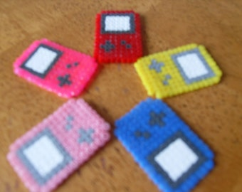 Set of 5 Retro Gameboy Hama Bead Accessories GEEK NERD COOL