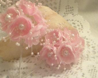 6 Faux Pearl Flower