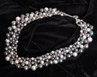 Stormy Night Pearl Collar