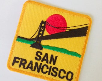 """Embroidered San Francisco Iron on Patch Badge (2 1/2"""" x 2 1/2"""")"""