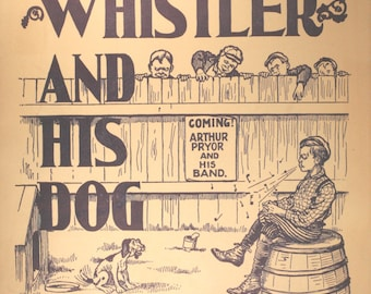 """1932 Sheet Music, """"The Whistler And His Dog"""""""