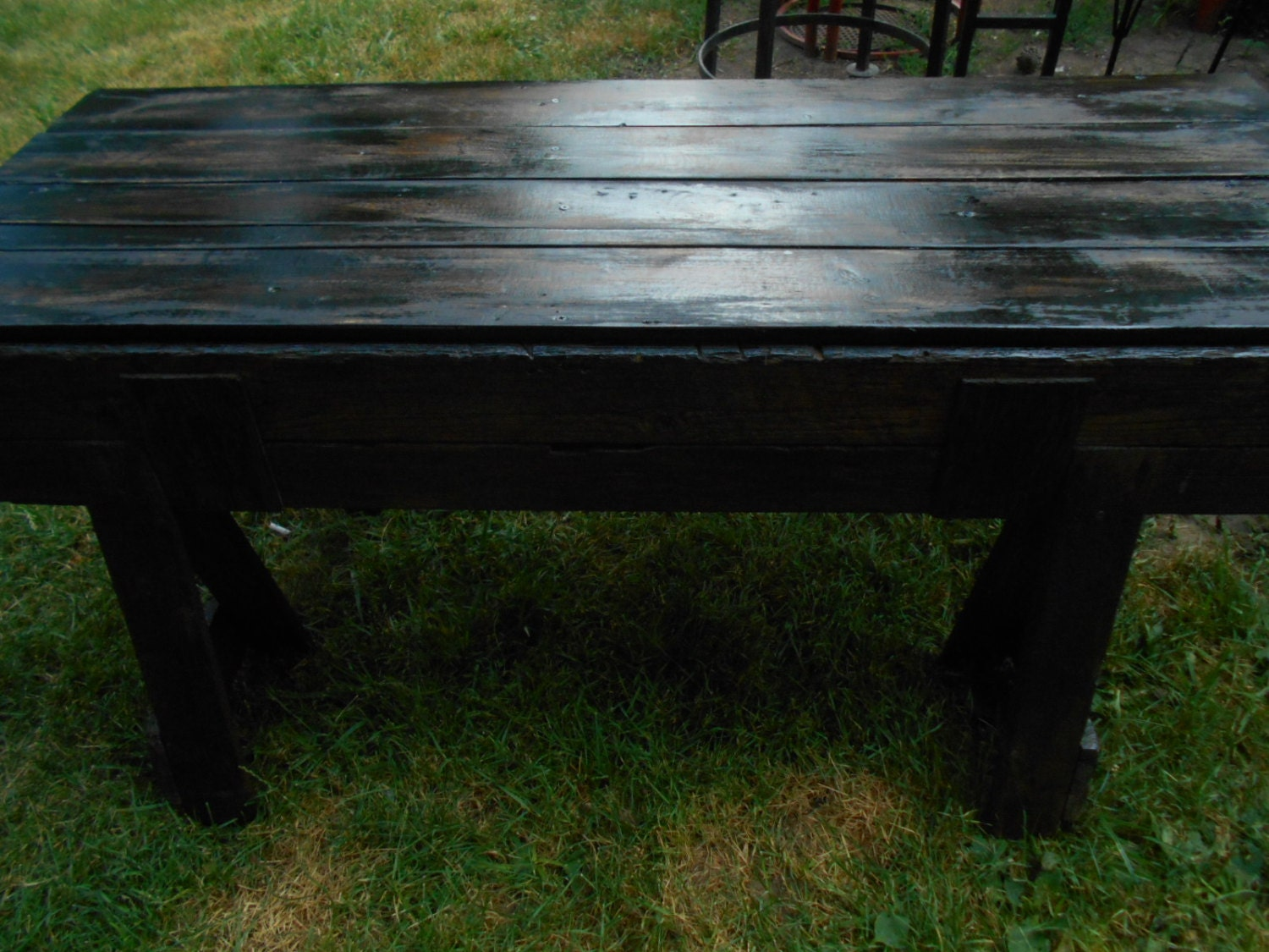 rustic reclaimed wood table local pick up only
