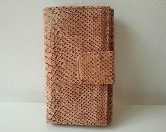 Big Wallet Cork for Lady - Piton Imitation